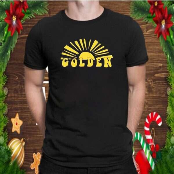 Harry Styles Golden Shirt