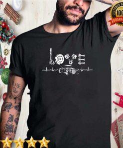 Hot Rod Shirt - Car Parts Love Heartbeat Classic T