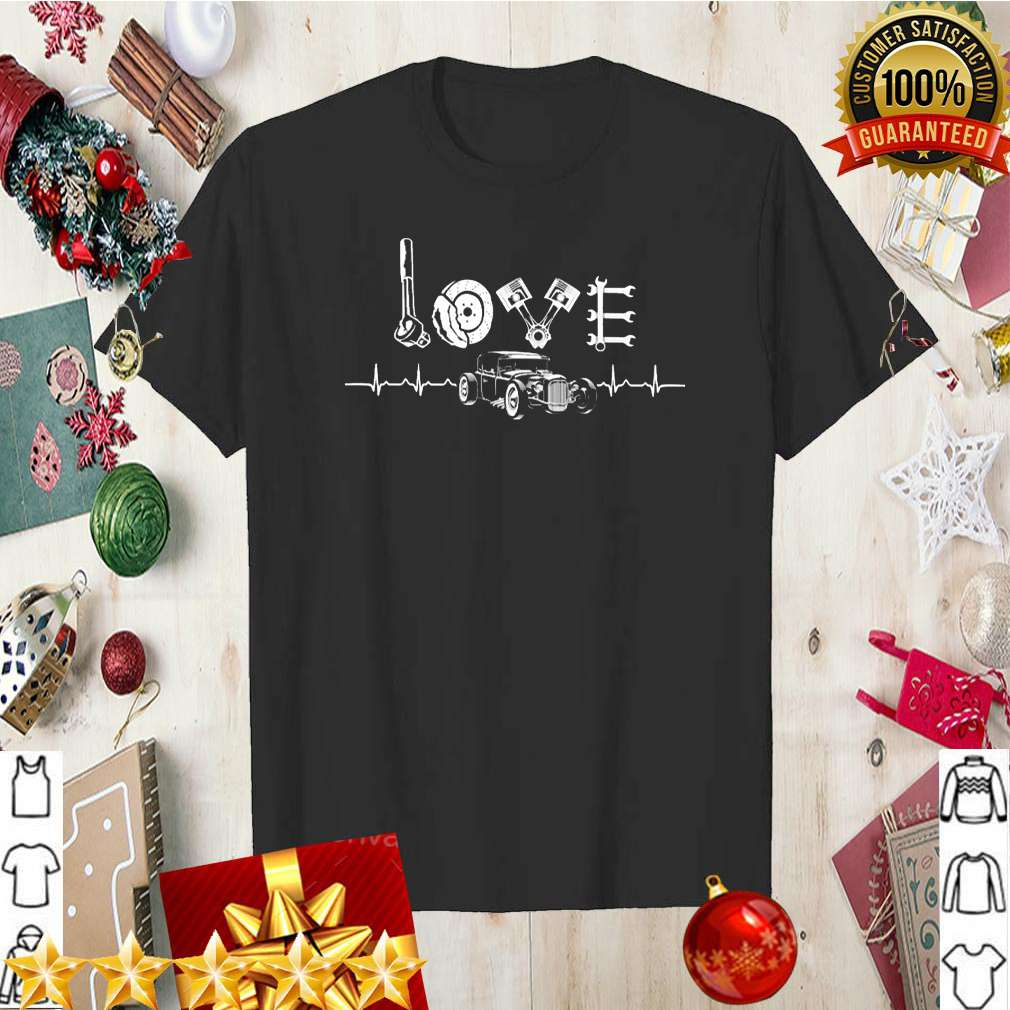 Hot Rod Shirt - Car Parts Love Heartbeat Classic T-Shirt 8