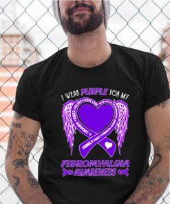 I wear purple for my fibromyalgia awareness shirt