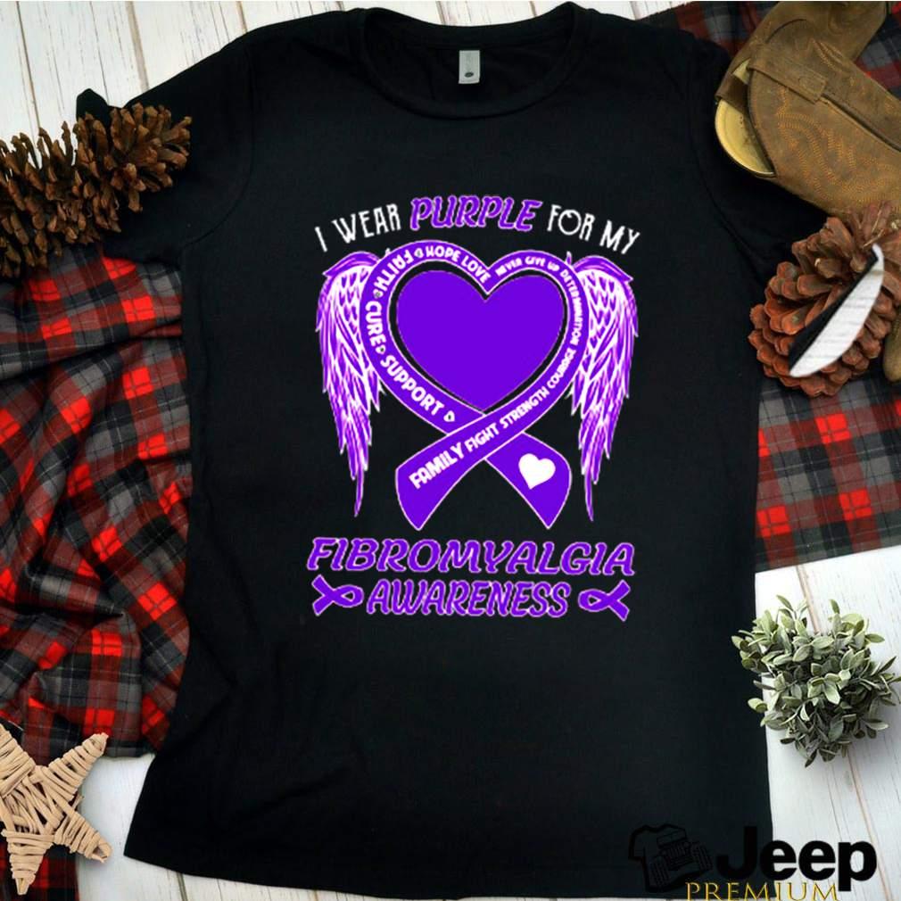 I wear purple for my fibromyalgia awareness shirt 5