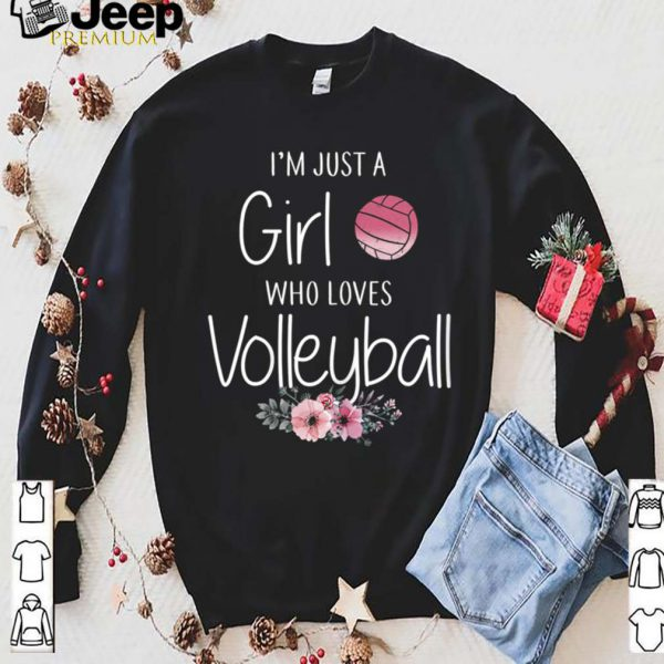 I'm Just A Girl Who Loves Volleyball Flowers