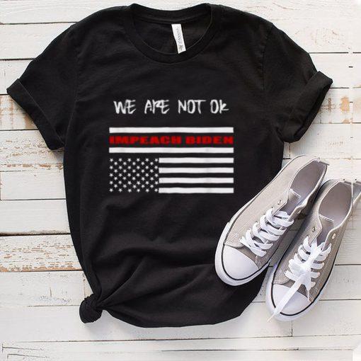 Impeach Biden Anti Biden Upside Down Flag Shirt Merica T Shirt