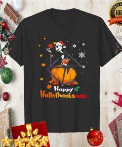 Jack Skellington With Santa Hat Happy Hallothanksmas