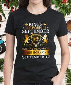 Kings Are Born On September 17th Funny Birthday Gift Boy T Shirt 2