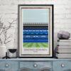 Madrid, Real CF, Santiago Bernabeu, Estadio Print poster