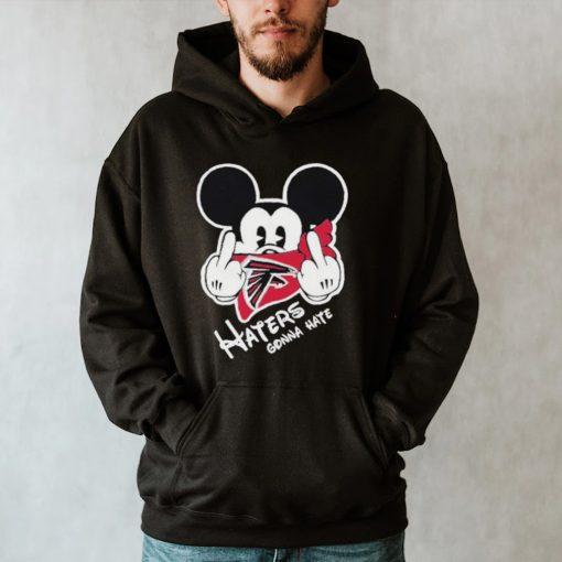 Mickey haters gonna atlanta american football team shirt