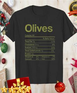 Olive Nutrition Facts Funny Thanksgiving Christmas Food