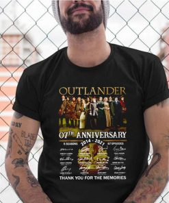 Outlander 07th anniversary 2014 2021 thank you for the memories signatures shirt