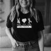 PARKINSON&39;S DISEASE AWARENESS peace love cure T-Shirt 1