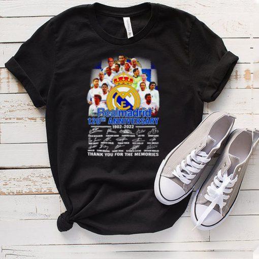 Realmadrid 120th anniversary 1902 2022 signatures shirt