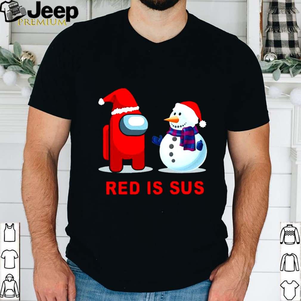 Red Is Sus Among Us Christmas Game Among Us Xmax