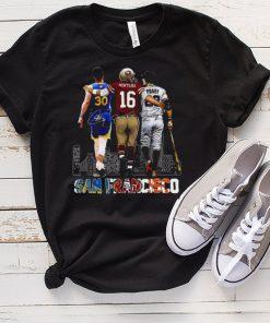 San Francisco Montana Curry Montana and Posey signatures 2021 shirt