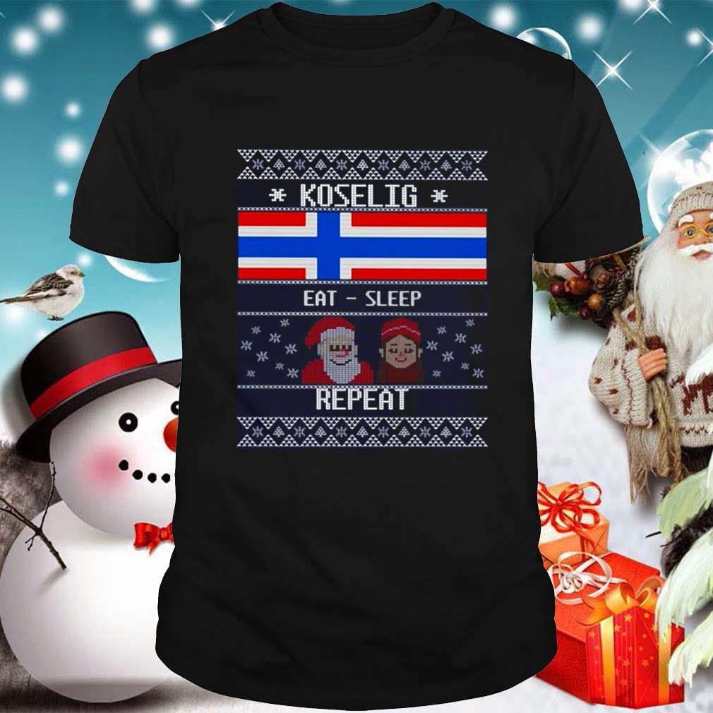 Santa and Elf koselig eat sleep repeat Ugly Christmas