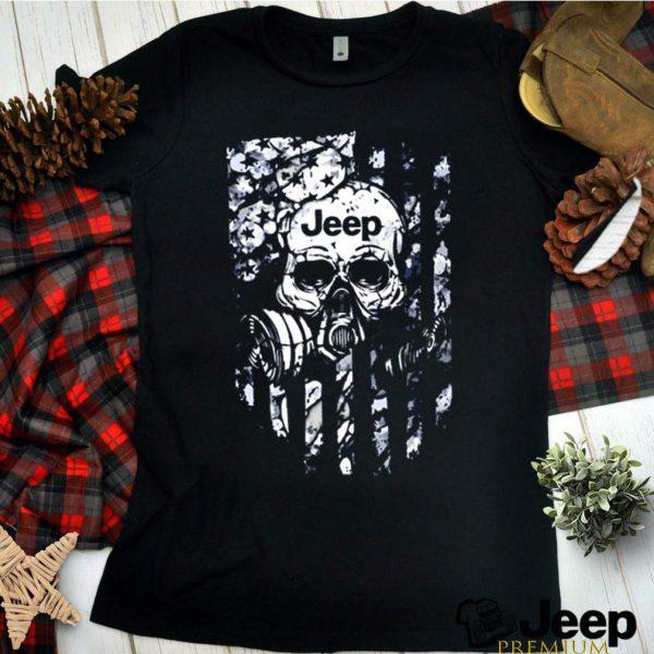 Skull jeep veteran shirt