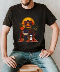 Snoopy and Charlie Brown Pumpkin Auburn Tigers Halloween Moon shirt