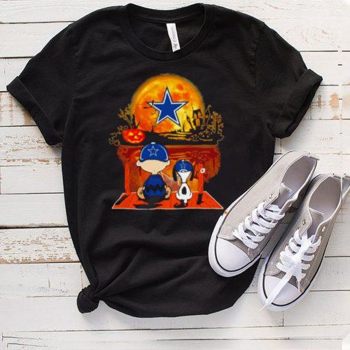 Snoopy and Charlie Brown Pumpkin Dallas Cowboys Halloween Moon shirt