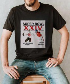 Super Bowl XXIV San Francisco 49ers Denver Broncos shirt