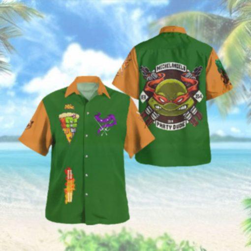 TMNT Michelangelo Party Dude Hawaiian Hawaiian Shirt