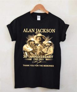The Alan Jackson 38th Anniversary 1983 2021 Signature Thanks For The Memories shirt