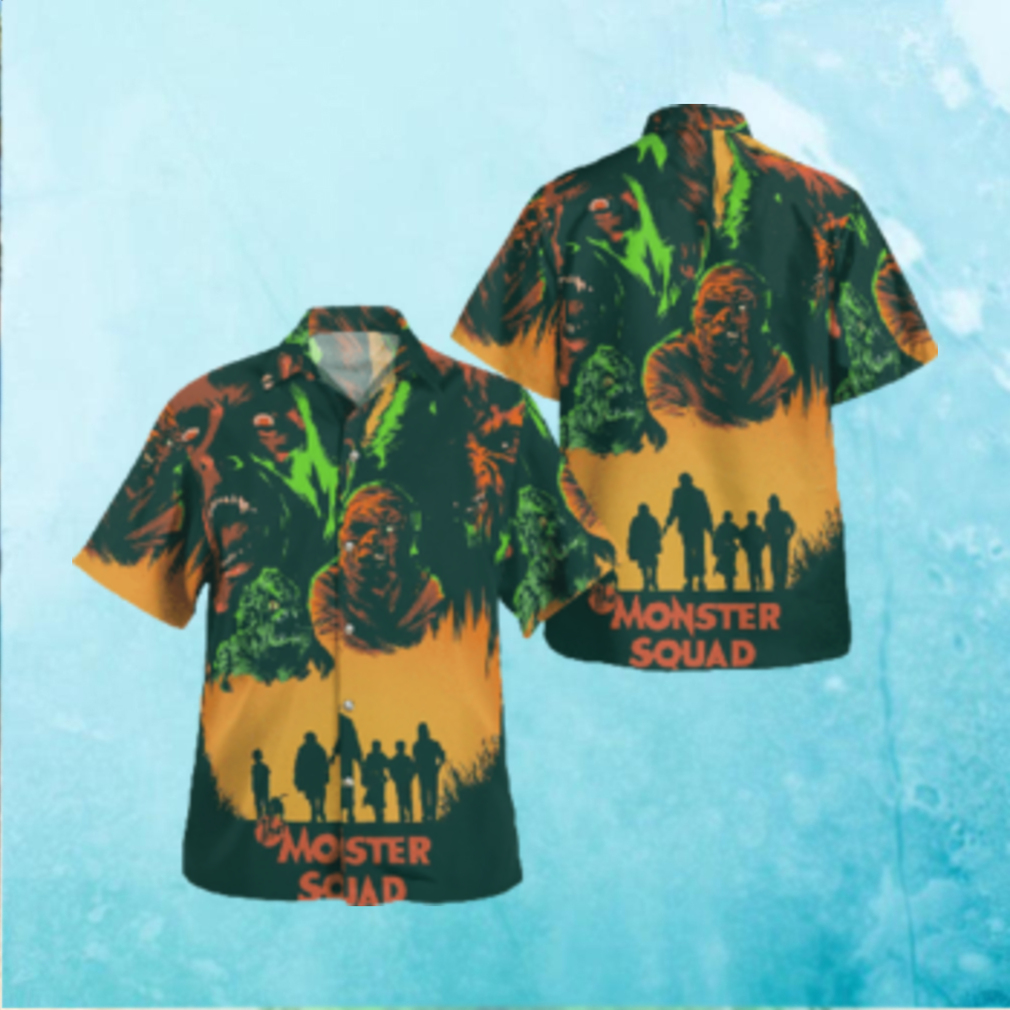 The Monster Squad Horror Halloween Hawaiian Hawaiian Shirt