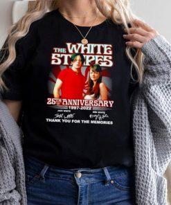 The White Stripes 25th anniversary 1997 2022 signatures shirt