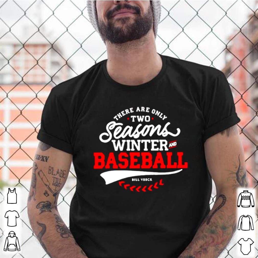 There Are Only Two Seasons Winter And Baseball shirt 9