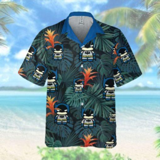 Tiny Batman Animation floral Hawaiian Hawaiian Shirt
