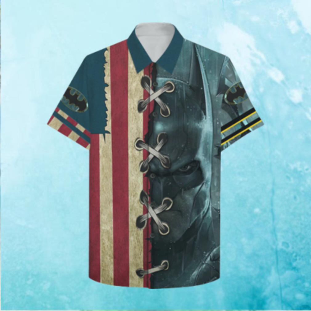 US Batman American flag Hawaiian Shirt Summer Hawaiian Shirt