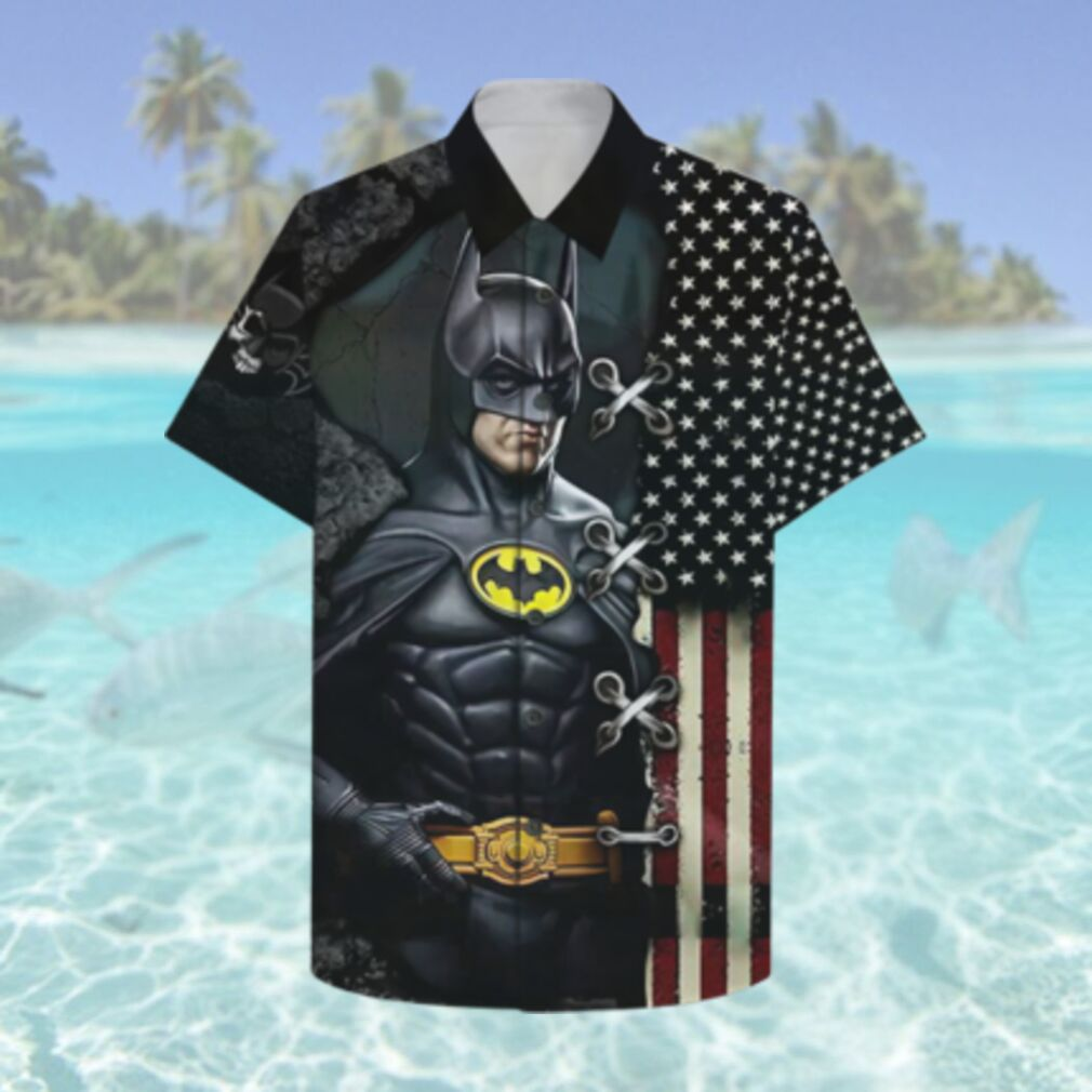 US flag Batman The Dark Knight Hawaiian Hawaiian Shirt