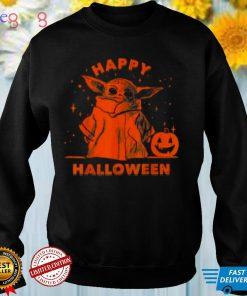 Master Yoda and Pumpkin Happy Halloween shirt