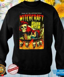 Witchcraft Vintage Skeleton Spooky horror Comics Halloween T Shirt