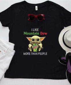 Baby Yoda I like Mountain Dew more than people