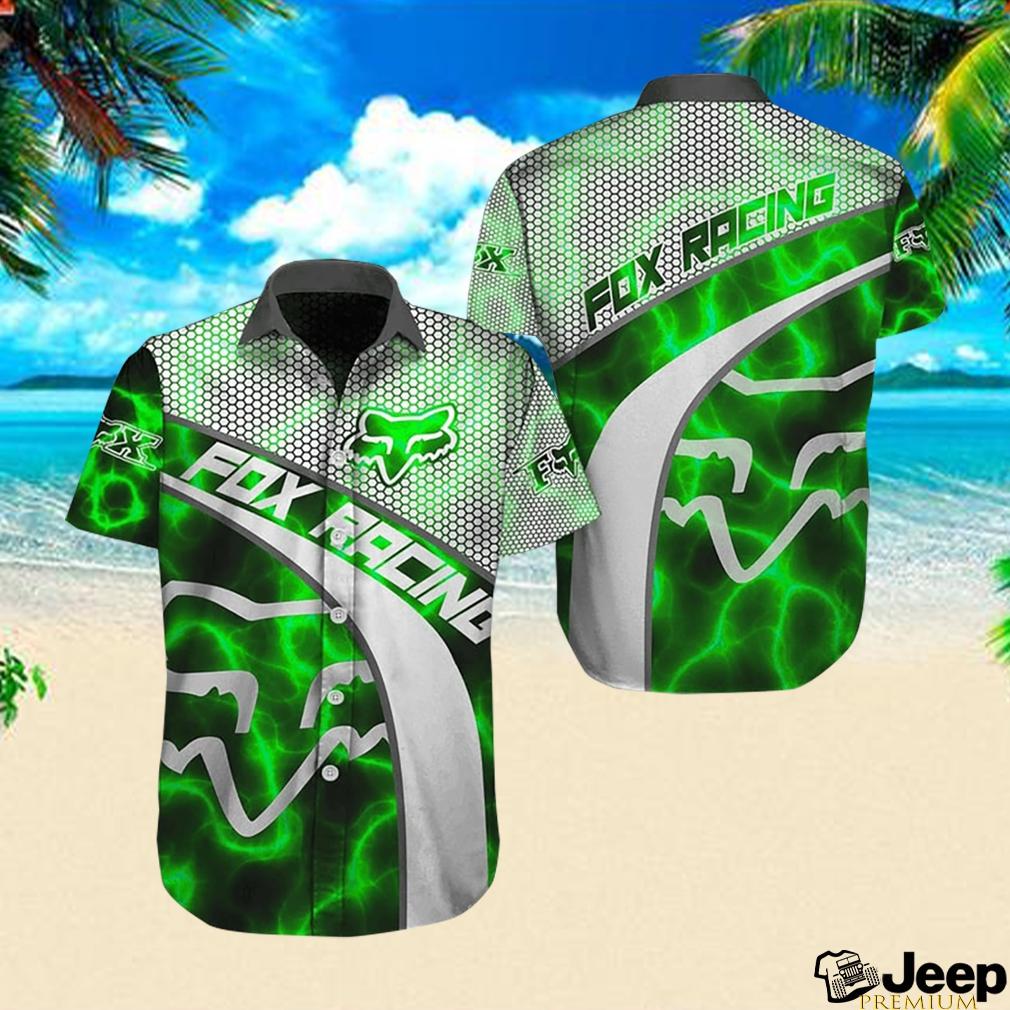 Fox racing metal hawaiian shirt