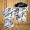 Fox racing motocross flower hawaiian t-shirt 3d
