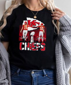 Kansas City Chiefs Mahomes and Hill signatures shirt