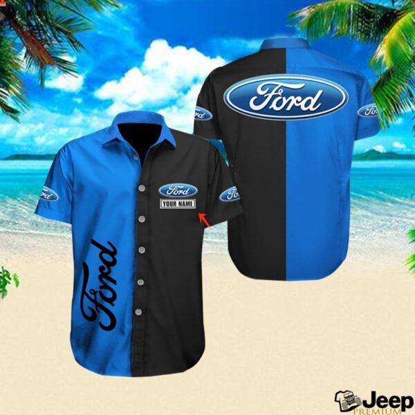 Personalized ford car hawaiian shirt