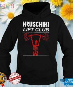 Skeleton Kruschiki Lift Club Weightlifting Shirt
