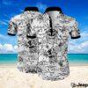 Skulls all over printed hawaiian shirt