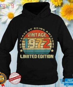 50 Years Old Tee Vintage 1972 Limited Edition 50th Birthday T Shirt