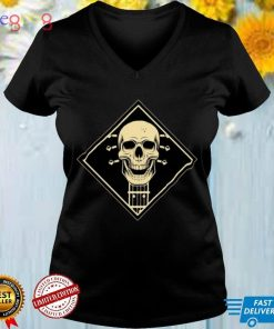 Design With Electric And Skeleton Acoustic Guitar Shirt