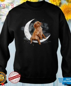 Golden Retriever Sit On The Moon shirt