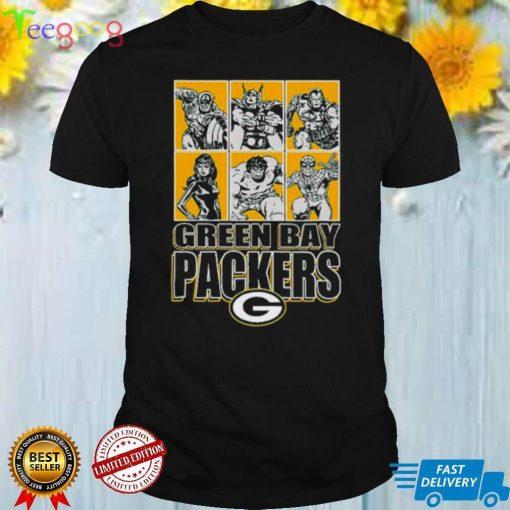 Green Bay Packers Disney Marvel Avengers Line Up shirt