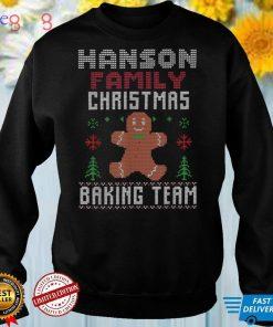 Hanson Family Christmas Baking Team Matching gingerbread T Shirt