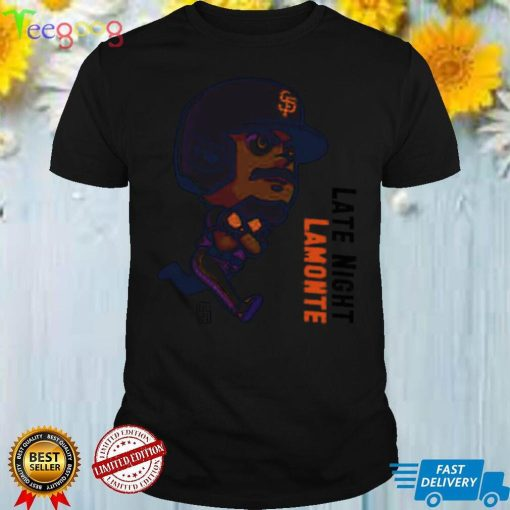 Late Night Lemonte chibi San Francisco Giants shirt