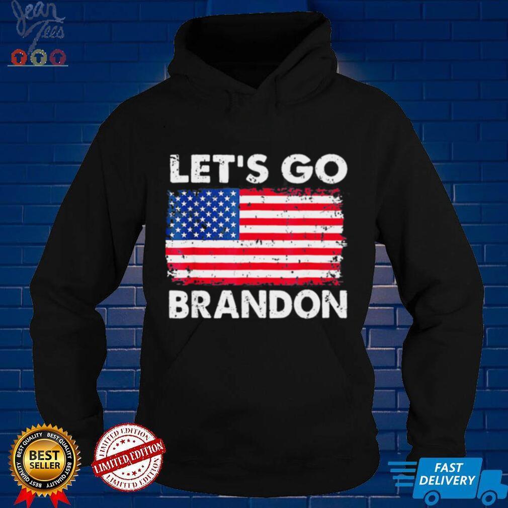 Lets Go Brandon Joe Biden Chant Anti biden Us Flag Tee Shirt