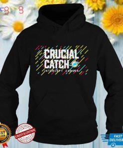 Miami Dolphins 2021 Crucial Catch Intercept Cancer T Shirt