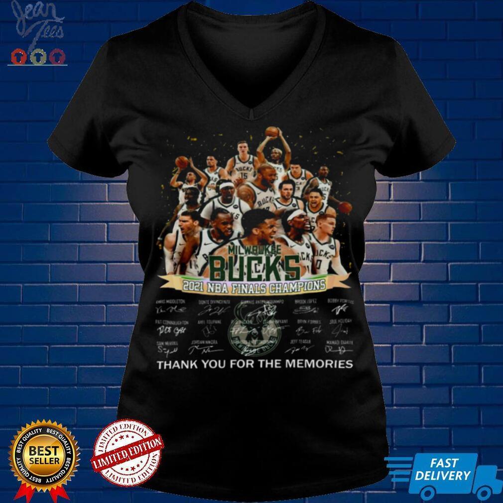 Milwaukee bucks 2021 nba finals champions thank you for the memories shirt