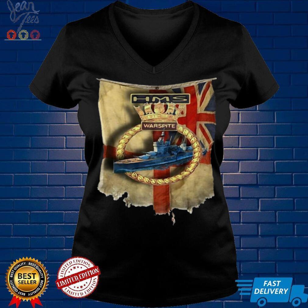 Navy Union Jack Schlachtschiff Warspite Royal T shirt