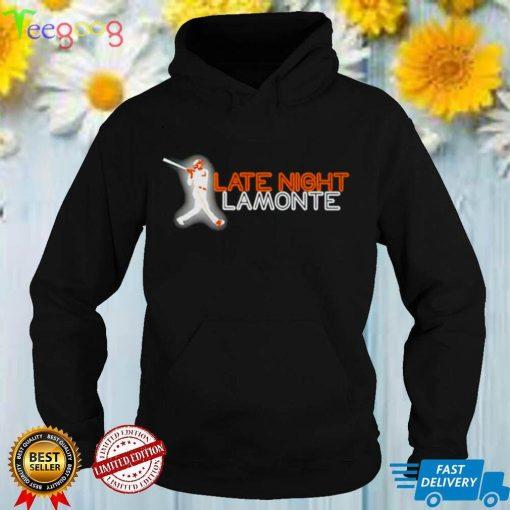Neon sign Late Night LaMonte shirt